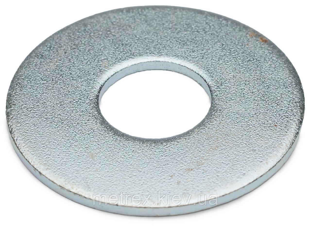 Шайба увеличенная под заклепку DIN 9021 М10x30 мм оцинкованная
