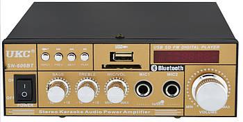 Усилитель звука UKC SN-606BT с радио и Bluetooth Gold (4826)