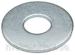 Шайба увеличенная под заклепку DIN 9021 М27 мм, оцинкованная