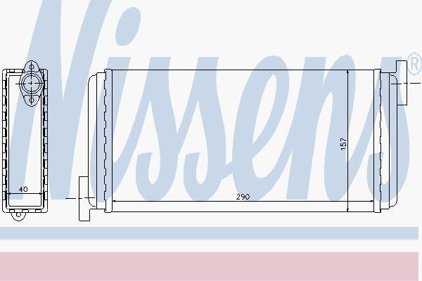 Радиатор печки MERCEDES 190 W201 (82-) (производство Nissens) (арт. 72002), rqn1