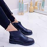 Женские ботинки ДЕМИ черные натуральная кожа, фото 4