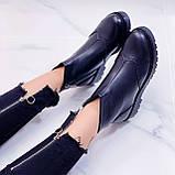 Женские ботинки ДЕМИ черные натуральная кожа, фото 3