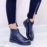 Женские ботинки ДЕМИ черные натуральная кожа, фото 6