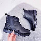 Женские ботинки ДЕМИ черные натуральная кожа, фото 5