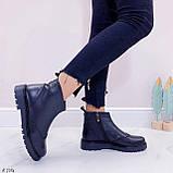 Женские ботинки ДЕМИ черные натуральная кожа, фото 7