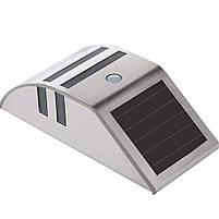 Светильник металлический TIENDA с датчиком движения и солнечной панелью (настенный уличный) Silver, фото 6