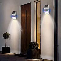 Светильник металлический TIENDA с датчиком движения и солнечной панелью (настенный уличный) Silver, фото 7