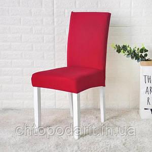 Чехол на стулья универсальный для мебели цвет красный  Код 14-0711