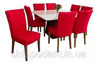 Чехол на стулья универсальный для мебели цвет красный  Код 14-0713