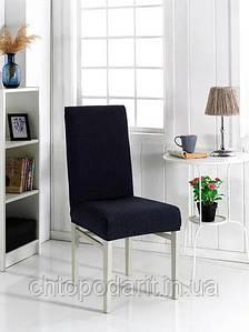 Чехол на стулья универсальный для мебели цвет черный  Код 14-0718