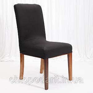 Чехол на стулья универсальный для мебели цвет черный  Код 14-0720
