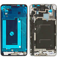Рамка крепления дисплея для Samsung Galaxy Note 3 N900 / N9000, серая, оригинал