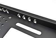 Камера заднего вида в рамке номерного знака SmartTech A58 (16 + 4 LED) з подсветкой Black (13212), фото 4