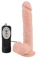 Реалістичний вібратор - Medical Silicone Thrusting Vibrator, фото 8