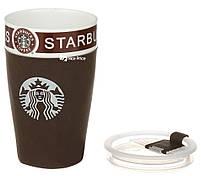 Чашка керамическая кружка Starbucks PY 023 коричневый (4152), фото 2