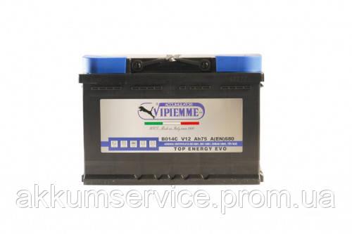 Аккумулятор автомобильный Vipiemme Top Energy 75AH R+ 680A (B014C)