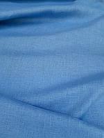 Льняная легкая ткань голубого цвета