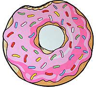Коврик 3D круглый безворсовый с 3д принтом ковер для дома 80см Пончик (3066), фото 2