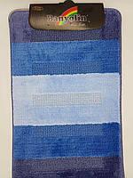 Набор ковриков с ворсом для ванной, синий (Турция) 60х100 и туалета 60х40см.