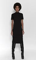 Платье zara в рубчик М чорного кольору