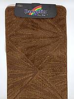 Набор ковриков с ворсом для ванной, коричневый (Турция) 60х100 и туалета 60х40см.