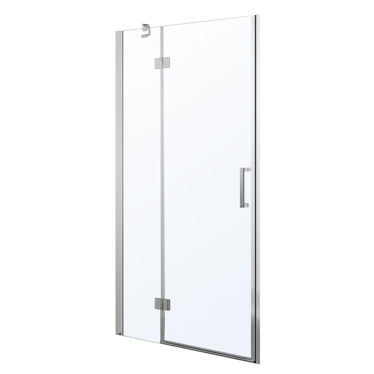 Дверь в нишу 100*195см распашная на петлях, прозрачное стекло 6мм
