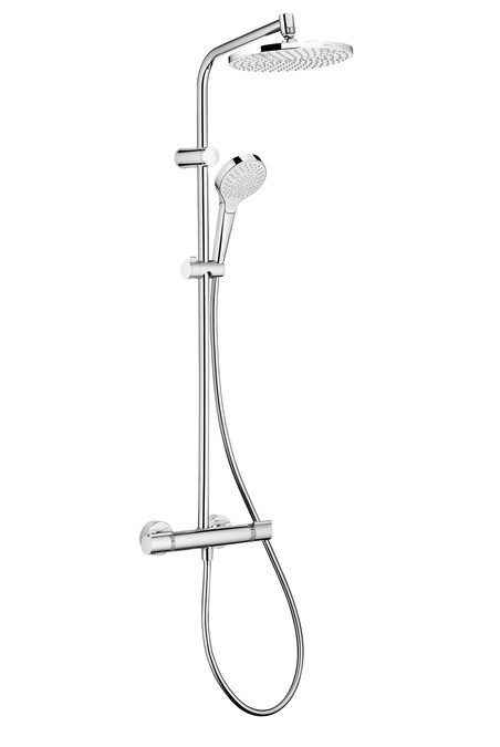 MYSELECT S 240 Showerpipe душевая система с термостатом, белый/хром