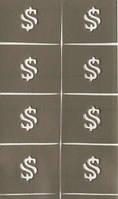 Трафарет для маникюра для дизайна ногтей доллар