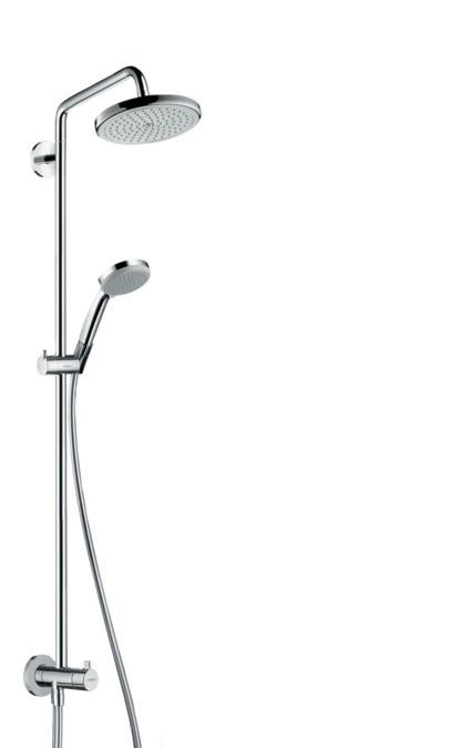 MYSELECT S 220 Showerpipe Reno душевая система, белый/хром