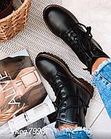 Демисезонные черные ботинки 36 размер, фото 1