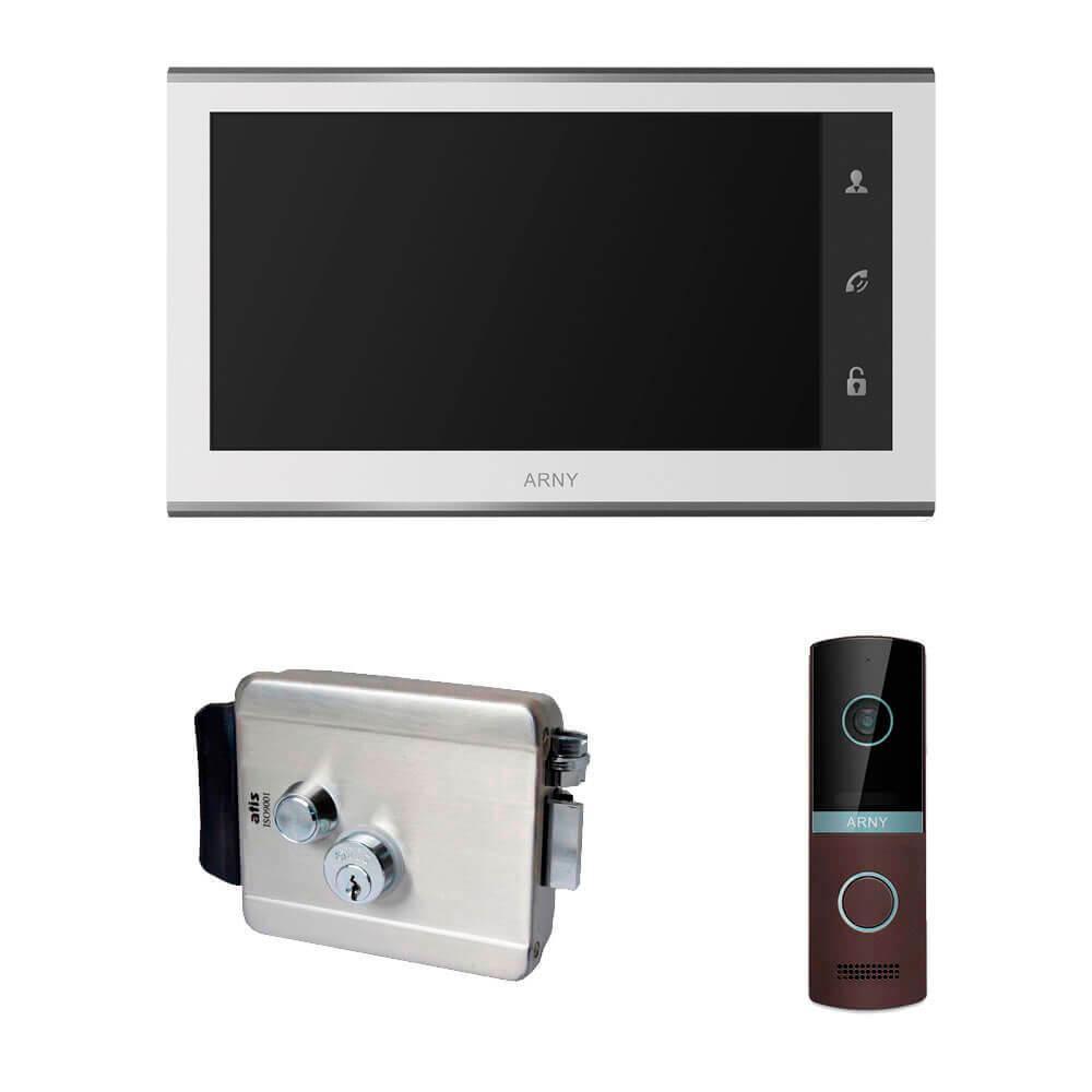 Комплект відеодомофона ARNY AVD-730 2MPX з видеопанелью AVP-NG230 2MPX і з електромеханічним замком ATIS