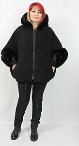 Женская шубка - пончо Darkwin, большие размеры 58-66