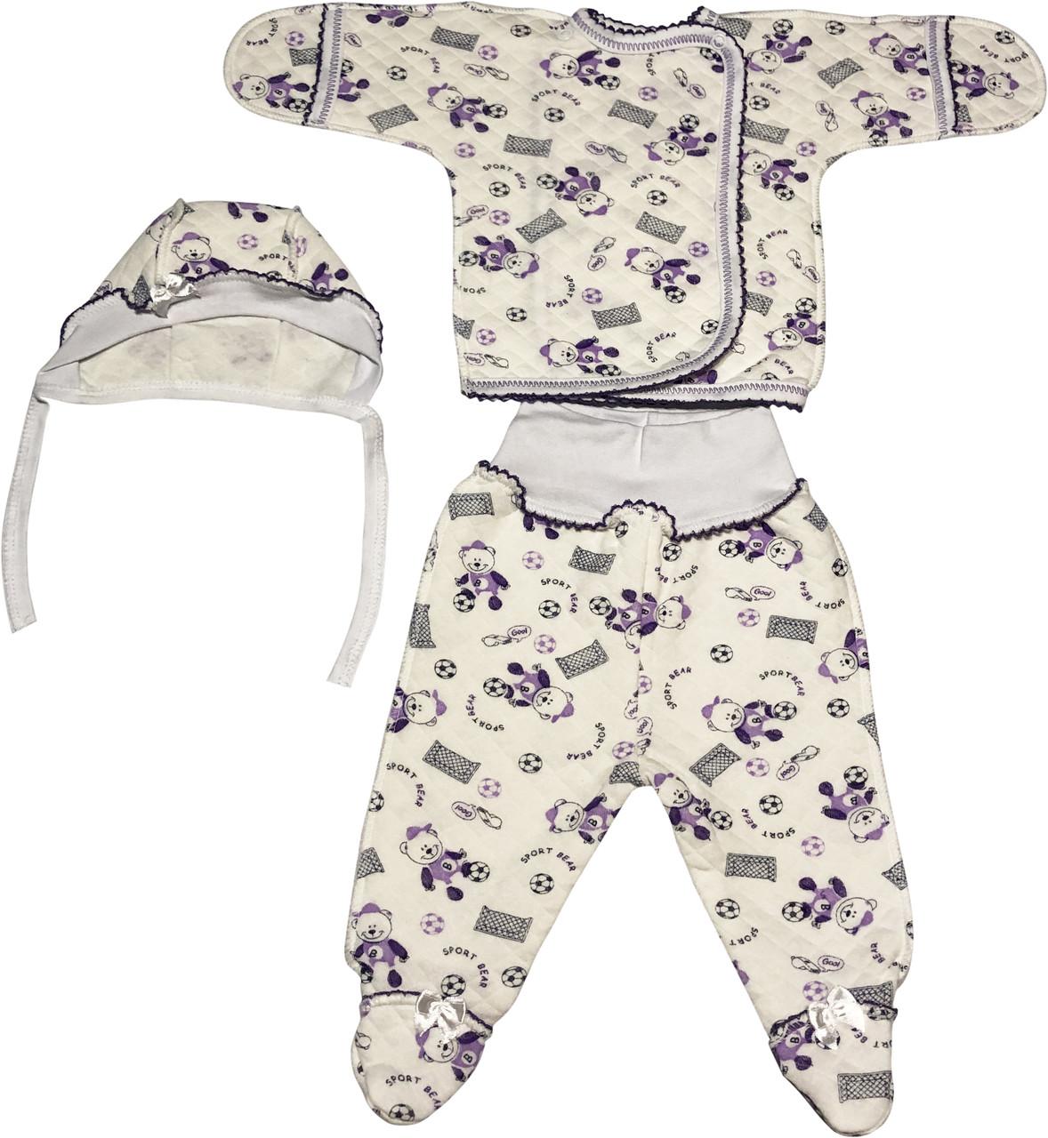 Детский костюм рост 56 0-2 мес трикотажный капитон молочный костюмчик на мальчика девочку комплект для новорожденных малышей С316