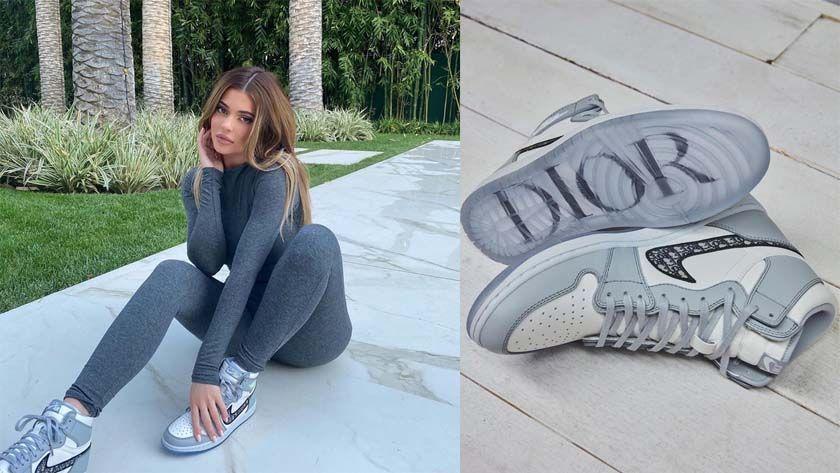 Кросівки жіночі Nike Air Jordan Dior в стилі найк джордан Білі (Репліка ААА+)