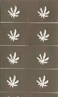 Трафарет для маникюра для дизайна ногтей листок