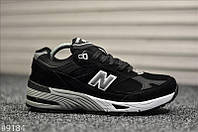 "Чоловічі Кросівки New Balance 991 Reflective ""Black White"" - ""Чорні Білі"" (Репліка ААА+), фото 1"