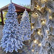 Элитная заснеженная 1.8м светящаяся литая елка искусственная ель с гирляндой