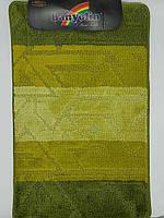 Набор ковриков с ворсом для ванной, зеленый цвет (Турция) 60х100 и туалета 60х40см.