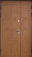 Двустворчатая металлическая дверь с наружными МДФ (16мм) накладками