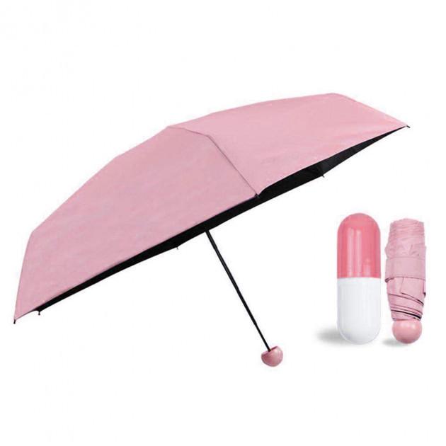 Мини-зонт в капсуле Capsule Umbrella mini pink SKL11-261356