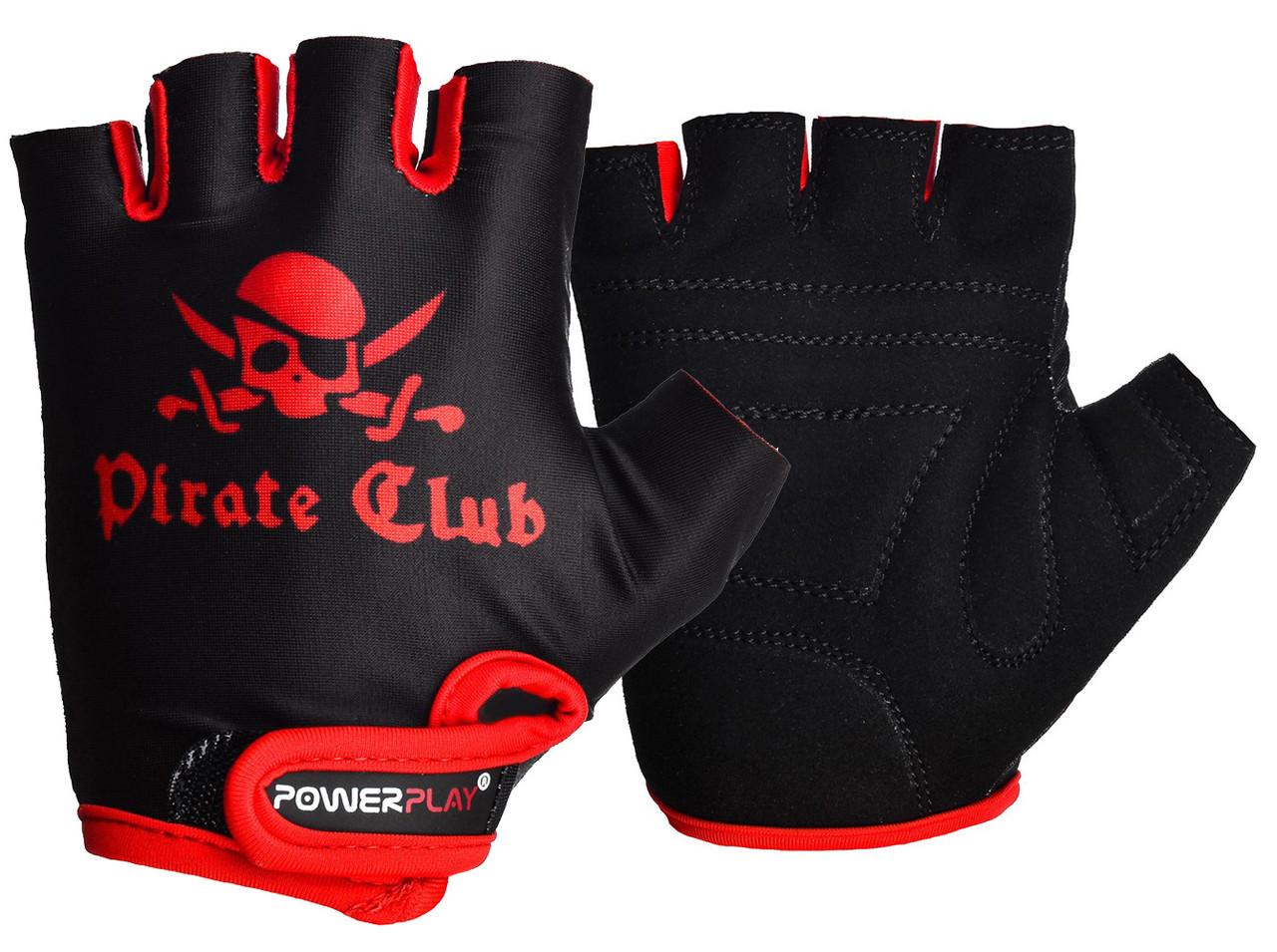 Велоперчатки PowerPlay 5461 Черно-красные 2XS