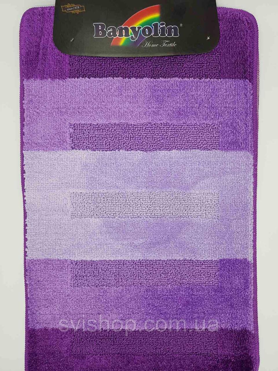 Набор ковриков с ворсом для ванной, фиолетовый цвет (Турция) 60х100 и туалета 60х40см.