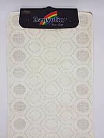 Набор ковриков с ворсом для ванной ''Banyolin'' белый 60х100 и туалета 60х40см.