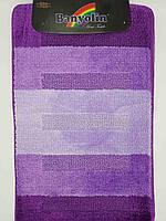 Набор ковриков с ворсом для ванной ''Banyolin'' фиолетовый  60х100 и туалета 60х40см.