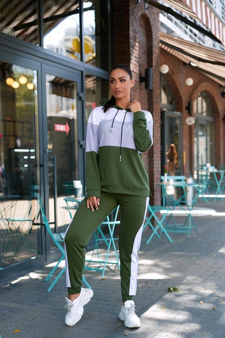 Женский спортивный костюм двойка кофта батник+штаны двухнить размер: 48-50,52-54