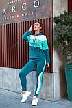 Женский спортивный костюм двойка кофта батник+штаны двухнить размер: 48-50,52-54, фото 5