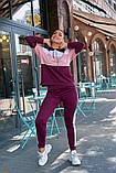 Женский спортивный костюм двойка кофта батник+штаны двухнить размер: 48-50,52-54, фото 3