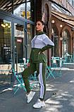 Женский спортивный костюм двойка кофта батник+штаны двухнить размер: 48-50,52-54, фото 6