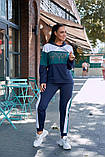 Женский спортивный костюм двойка кофта батник+штаны двухнить размер: 48-50,52-54, фото 7
