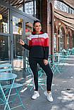 Женский спортивный костюм двойка кофта батник+штаны двухнить размер: 48-50,52-54, фото 2